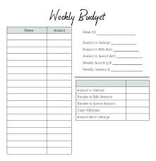 Budget Sheet Free Printable Weekly Budget Worksheet Free Printable Planner Simple Template