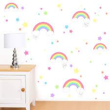 Rubybloom Designs Rubybloom Designs Rainbows Clouds Stars Hearts Girls Peel Stick Art Vinyl Wall Stickers