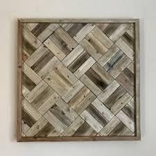 reclaimed wood art modern wall decor