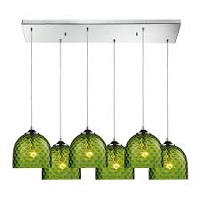 westmore lighting avia polished chrome and green glass mini transitional tinted glass pendant