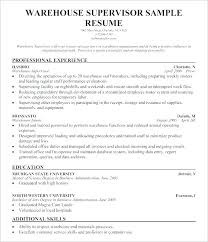 Warehouse Job Resume Noxdefense Com