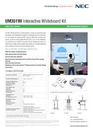 <b>UM351Wi NEC</b> Whiteboard Kit Projectors   Manualzz