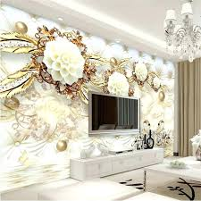 3d wall painting designs for bedroom wall painting swan jewelry reflection custom floor wall paper mural