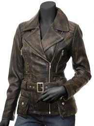 vintage womens motorcycle jacket biker distressed leather womens jacket