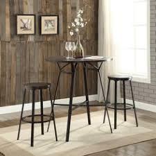 acme furniture acme dora 3 piece pack bar set weathered dark oak