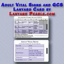 Paediatric Vital Signs Resuscitation Lanyard Reference