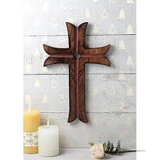 indya wooden celtic cross 15 x 10 long wall hanging french cross plaque hand carved antique