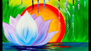 zen lotus flower step by step for beginners acrylic tutorial