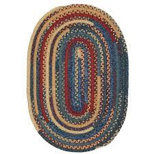 hearth denim 8 ft x 10 ft oval braided area rug