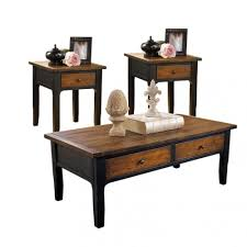 trendy coffee table with end tables trinity side gold png bw