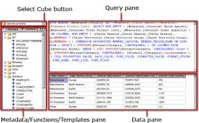 Msas Cubes Analysis Services Mdx Query Designer Power Pivot Excel
