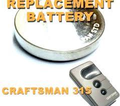 chamberlain garage door remote battery replacement