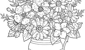 Coloring Pages Of Flowers Flower Vase For Girls Hard Chronicles