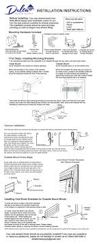 window blinds window blinds brackets installation instructions