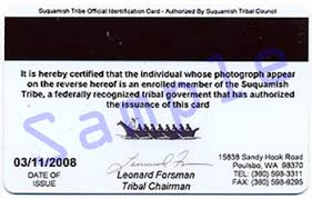 Tribal Board Cards Id State Cannabis Washington As And Liquor Identification