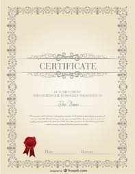Professional Certificates Templates Professional Certificate Template Vector Free Download