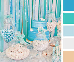 Thinking about throwing an under the sea themed party? Start the  inspiration with color palettes