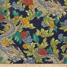 robert allen ming dragon printed cotton dry fabric in aquatint 20 95 per yard fabric dry fabric robert allen and laura ashley