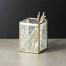 office accessories modern. Shatter Square Glass Pencil Holder Office Accessories Modern E