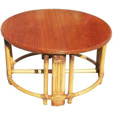round rattan coffee table home view all round rattan coffee table with mahogany top and fancy