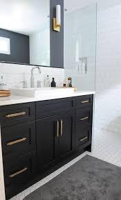 H Black Bathroom Vanity With Gold Hardware Vintage Bathroom Oliver And  Simon Design