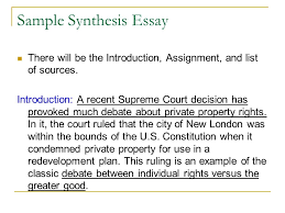 Sample Of Synthesis Essay Synthesis Example History Essay Edu Essay