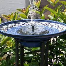 solar power fountain pump for bird bath