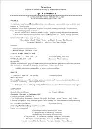 Skin Care Specialist Sample Resume Esthetician Resume Sample Httpwwwresumecareeresthetician 16