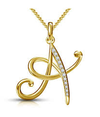 kataria jewellers letter a gold plated 92 5 sterling silver and swarovski alphabet initial pendant kataria jewellers letter a gold plated 92 5 sterling