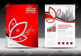 The Flyer Ads Brochure Template Layout Red Cover Design Annual Report Magazine