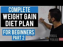 Diet Chart For Gym Beginners Female Full Day Diet Plan To Gain Weight For Beginners Part 2 Hindi Punjabi