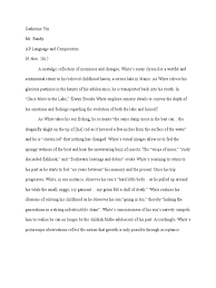 eb white essay guide to the classics michel de montaigne s essays  once more to the lake by eb white essay dgereport web fc com once more to