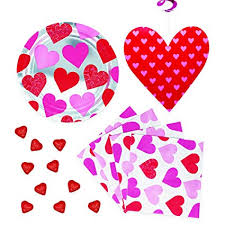 Valentines office decorations Door Valentines Day Party Supplies Including Pretty Red And Pink Heart Plates Napkins Hanging Table Architecture Art Designs Amazoncom Valentines Day Party Supplies Including Pretty Red And