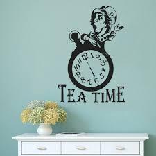 Tee Zeit Wandtattoo Mad Hatter Tea Party Decor Alice Im