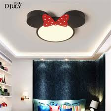 Mickey Mouse Chandelier Light Decorative Ceiling Lamp Child Room Cartoon Mickey Mouse Led