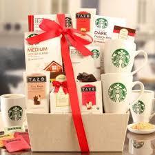 starbucks fireside coffee tea gift basket from costco