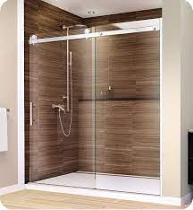 frameless sliding shower door with