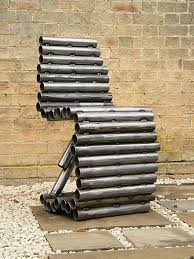 metal furniture. ashwinstudio sculptural furniture modern contemporary created from recycled scrap and found objects wood glass metal