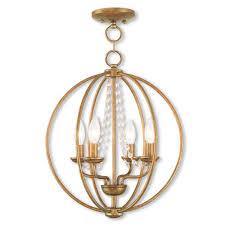 livex lighting arabella 4 light antique gold leaf convertible chandelier