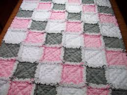 Teal and Gray Elephants and Chevrons Rag Quilt by ZeedleBeez on ... & Baby Rag Quilts Pink Grey Baby Quilt Minky by LoveableQuiltsNMore Adamdwight.com