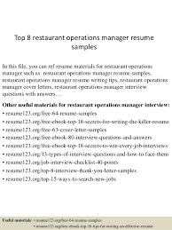 Restaurant Manager Resume Stunning Interview Restaurant Manager Resumes Holaklonecco