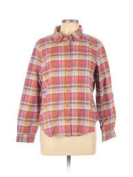 Pendleton Shirt Size Chart Details About Pendleton Women Pink Long Sleeve Button Down Shirt Xl Petite