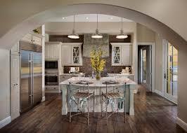 Handscraped Laminate Flooring Kitchen  Transitional With Archway Custom Designed Cabinets Dark Wood Floor