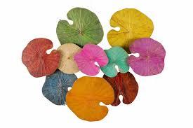 lotus leaves wall art in multicolors