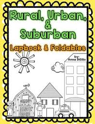 Urban Suburban Rural Rural Urban Suburban Lapbook Simply Skilled In Second