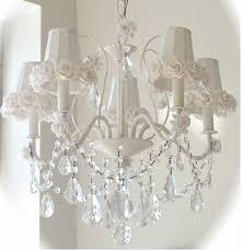 shabby chic s white rose 5 light chandelier
