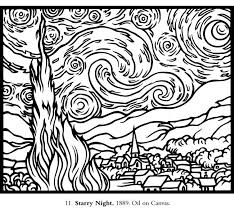 Small Picture Van gogh starry night coloring page inspirational starry night
