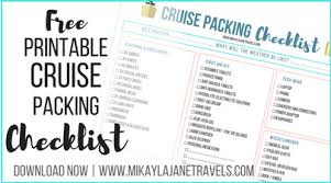 Cruise Packing List Packing List For A 12 Day South Pacific Cruise Mikayla Jane Travels