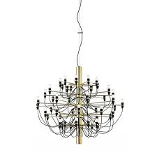 flos 2097 30 50 light bulbs suspension pendant chandelier chrome or brass by gino sarfatti