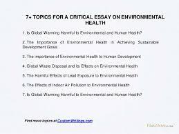 Human health essay